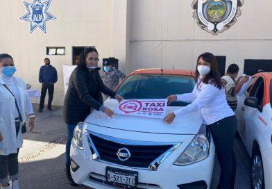 Arrancan Taxis Rosas en Jalpa